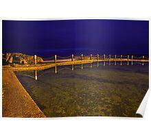 Mahon Pool at Night Poster