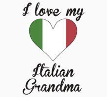 I Love My Italian Grandma Kids Tee