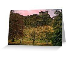 Edinburgh Castle in Autumn Greeting Card