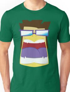 Hipster Bird Man Unisex T-Shirt