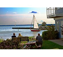 Just Watchin' the Ships Sail By. Photographic Print