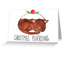 Christmas Purrding Greeting Card