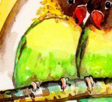Masked Lovebird Pair Sticker
