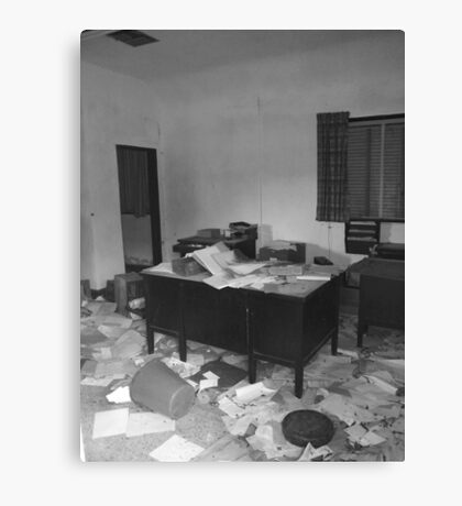 Abandoned Office Canvas Print