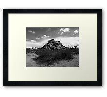 JOSHUA ROCKS Framed Print