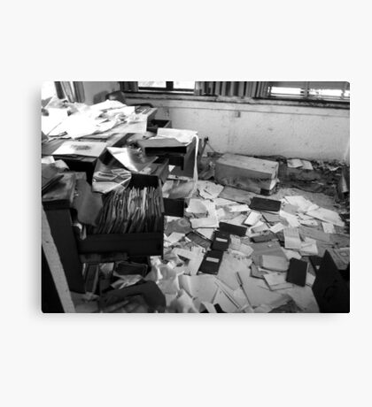 Abandoned Office Life Canvas Print