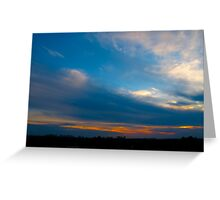 Blowing the sunset winds Greeting Card