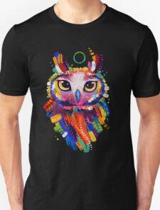 Owl - Black Background Unisex T-Shirt