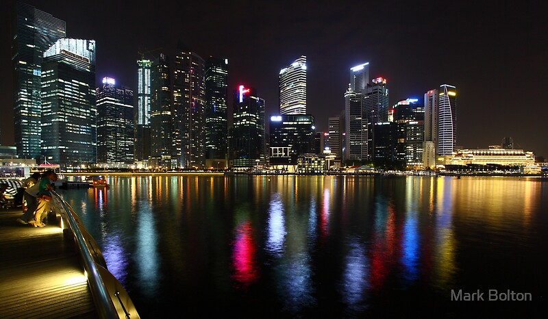 Watercolours - Reflections of the Singapore Skyline