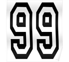 99, TEAM, SPORTS, NUMBER 99, Ninety Nine, Competition Poster