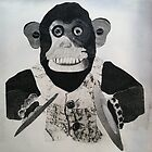 Crazy Monkey made of paper by prjncess