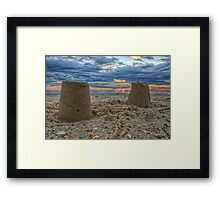 Sand Castles in the Sky Framed Print