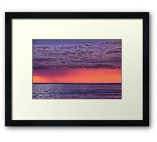 Distant Sunset Storm Framed Print