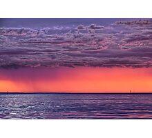 Distant Sunset Storm Photographic Print