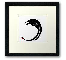 Dragon-Shadow Framed Print