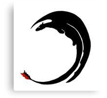Dragon - Shadow Canvas Print