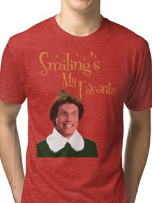 Buddy The Elf - Smiling's My Favorite Tri-blend T-Shirt