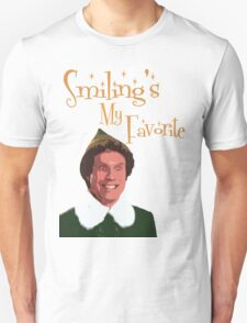 Buddy The Elf - Smiling's My Favorite T-Shirt