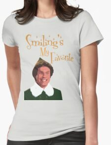 Buddy The Elf - Smiling's My Favorite Womens Fitted T-Shirt
