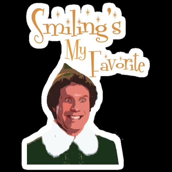 Buddy The Elf - Smiling's My Favorite by Kelly Ferguson