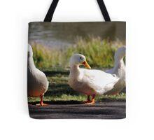 Three Little Ducks Tote Bag
