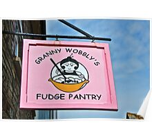 Granny Wobbly's Fudge Pantry ~ Tintagel Poster