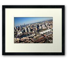 Darling Harbour, a flight Framed Print
