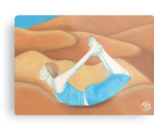 Yoga Bow Metal Print