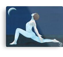 Yoga Moon Metal Print