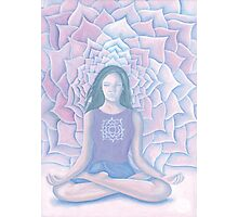Yoga Lotus Photographic Print