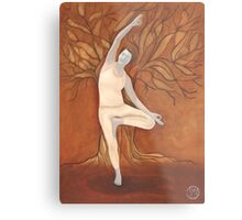 Yoga Tree Metal Print