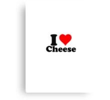 I love cheese Canvas Print