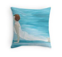 Yoga Water Throw Pillow