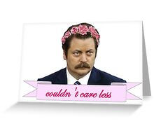 ron swanson parks and recreation merch Greeting Card
