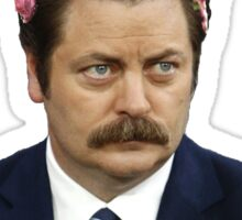ron swanson parks and recreation merch Sticker