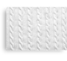 Cable Knit Pattern Canvas Print