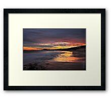 Friday the 13th Sunset. Framed Print