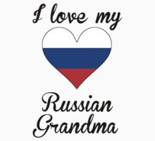 I Love My Russian Grandma Kids Tee