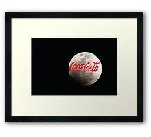 coca cola moon Framed Print