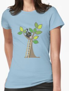 Cute kawaii cat in tree with cupcake T-Shirt