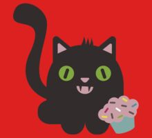Cute kawaii kitty cat with cupcake by BigMRanch