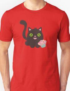 Cute kawaii kitty cat with cupcake T-Shirt