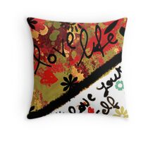 Pillow autumn colours: love life, love your self Throw Pillow