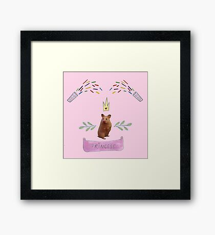 Princess Hamster Banner Mouse Framed Print