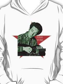 Woody Guthrie, Folk Star (Sm) T-Shirt