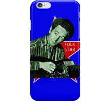 Woody Guthrie, Folk Star (Sm) iPhone Case/Skin