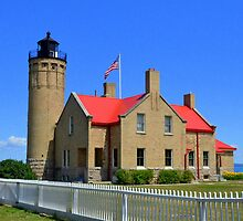 Old Mackinac Point Lighthouse 4 by Debbie  Maglothin