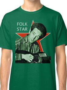 Woody Guthrie, Folk Star (Lg) Classic T-Shirt