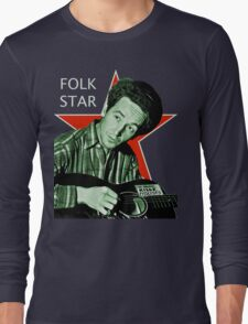 Woody Guthrie, Folk Star (Lg) Long Sleeve T-Shirt