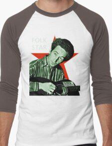 Woody Guthrie, Folk Star (Lg) Men's Baseball ¾ T-Shirt